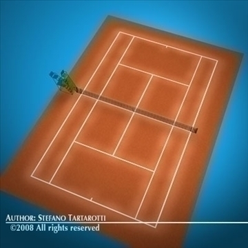 tennis field 3d model 3ds dxf c4d obj 88463