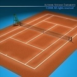 Tennis field ( 78.04KB jpg by tartino )