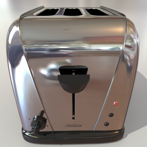 electric 3 slice toaster 3d model 3ds max dxf fbx obj 114910