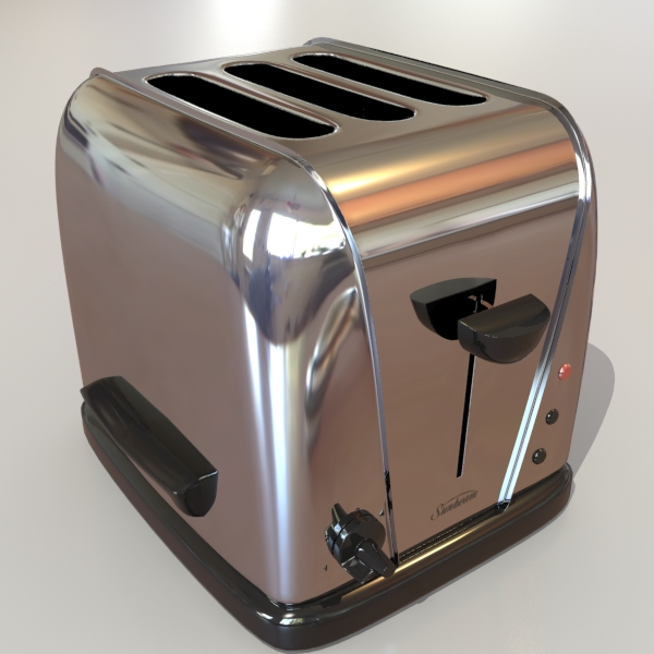 electric 3 slice toaster 3d model 3ds max dxf fbx obj 114911