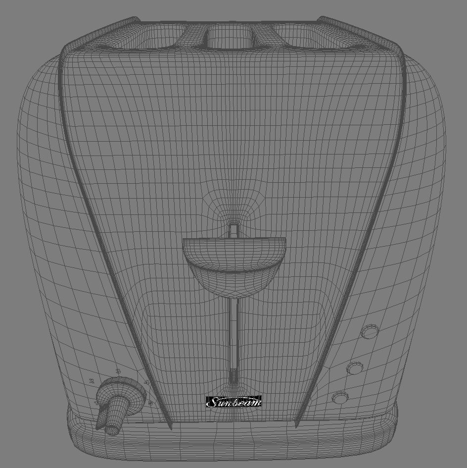 electric 3 slice toaster 3d model 3ds max dxf fbx obj 114915