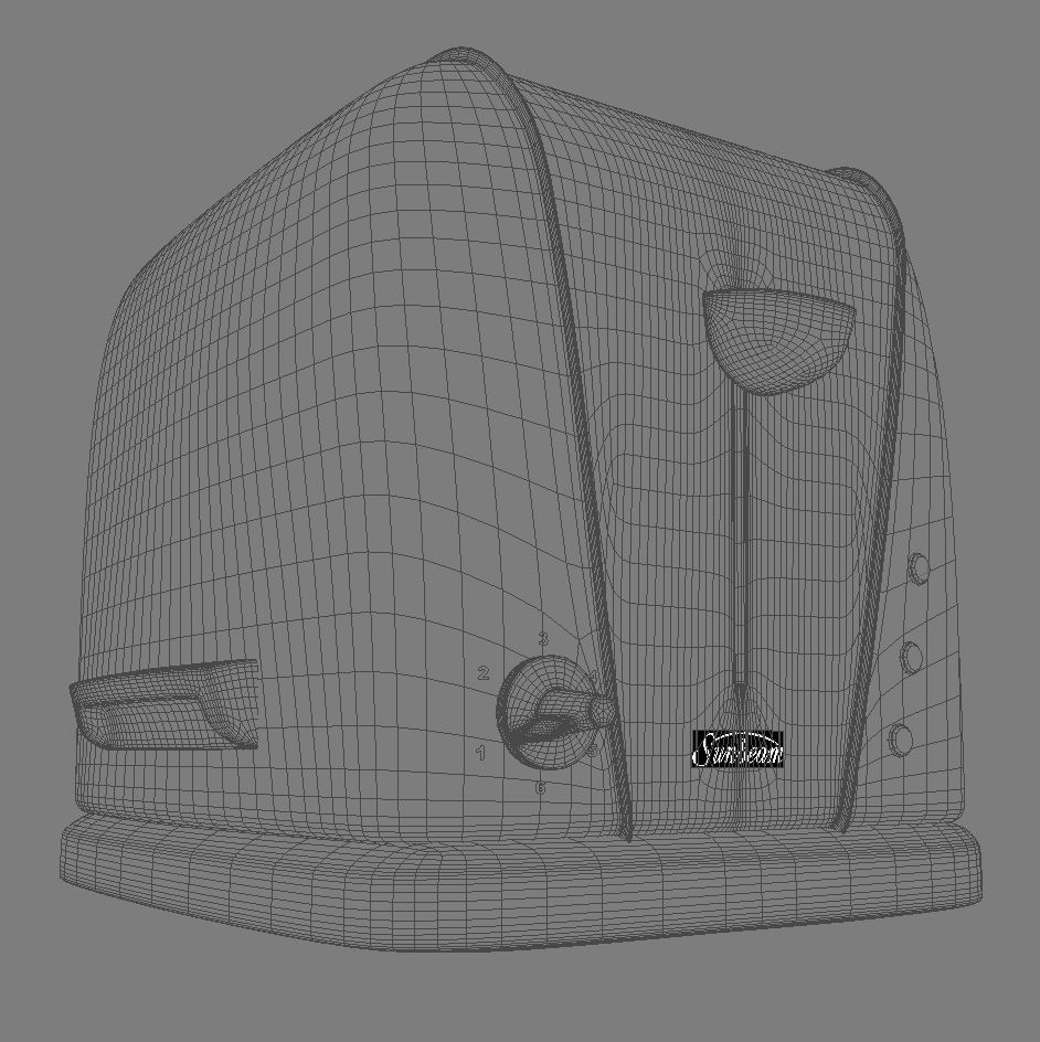 electric 3 slice toaster 3d model 3ds max dxf fbx obj 114919