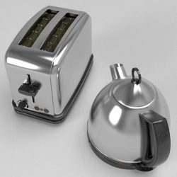 Kettle & Toaster set ( 99.77KB jpg by Pixelblock )