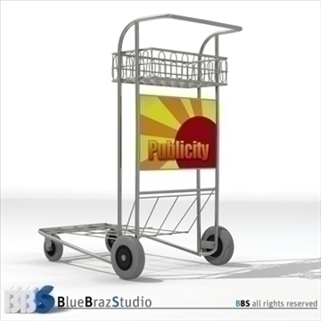 airport luggage cart 3d model 3ds dxf c4d obj 105567