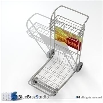 airport luggage cart 3d model 3ds dxf c4d obj 105568
