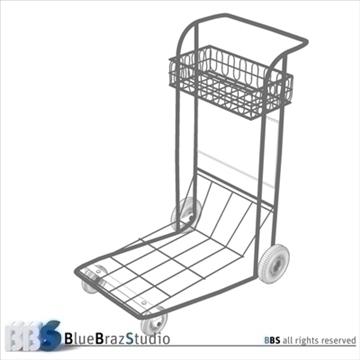 airport luggage cart 3d model 3ds dxf c4d obj 105569