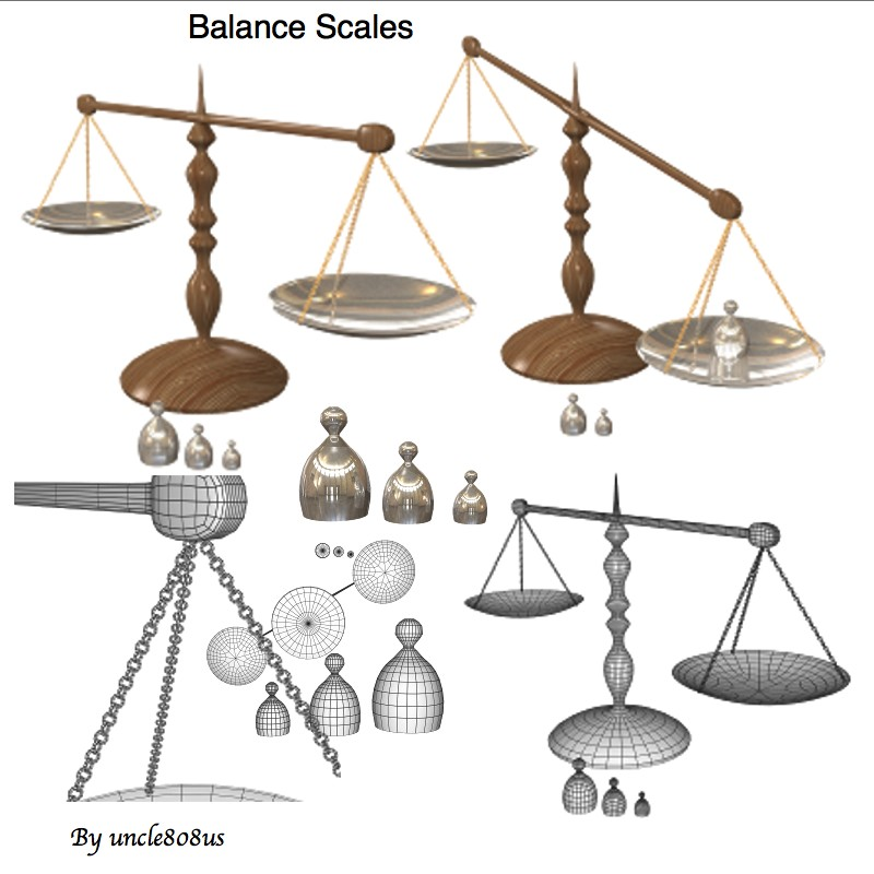 bilances skalas 3d obj obj 153211