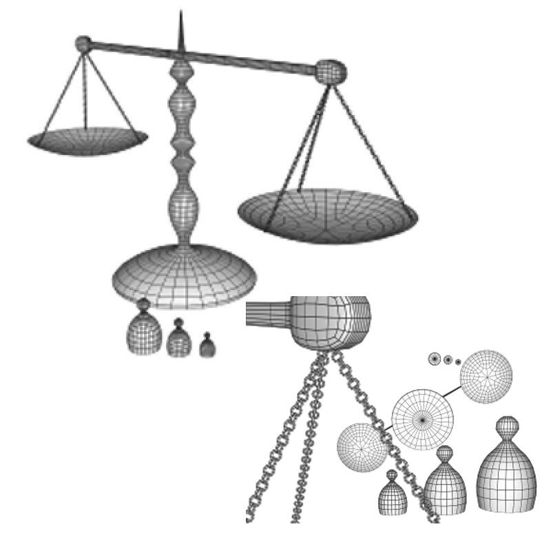 bilances skalas 3d obj obj 153213