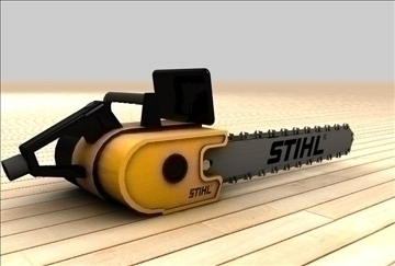 chainsaw 3d model 3ds c4d texture 86888