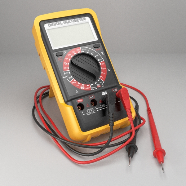 digital multimeter 3d model 3ds fbx skp obj 117957