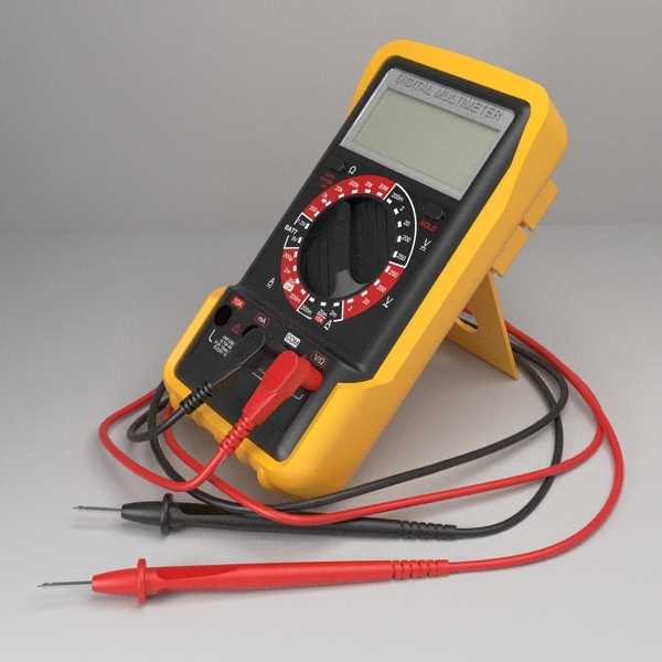digital multimeter 3d model 3ds fbx skp obj 117959