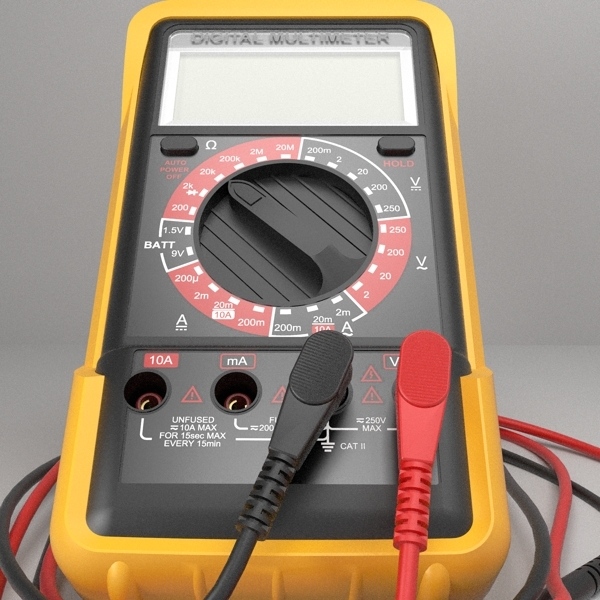 digital multimeter 3d model 3ds fbx skp obj 117960