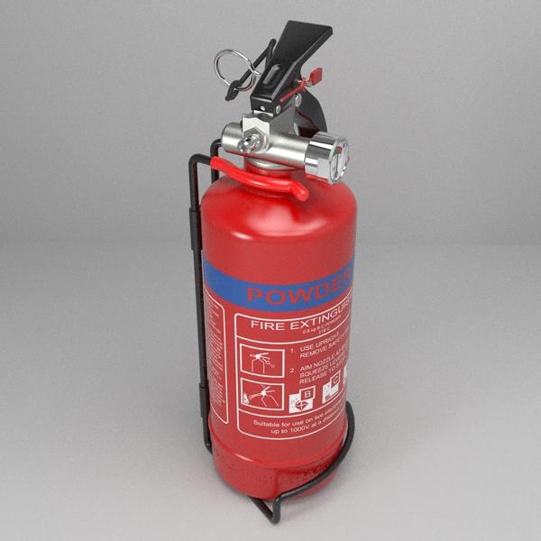 fire extinguisher (vehicle or household) 3d model 3ds fbx skp obj 113615