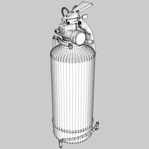 fire extinguisher (vehicle or household) 3d model 3ds fbx skp obj 113617