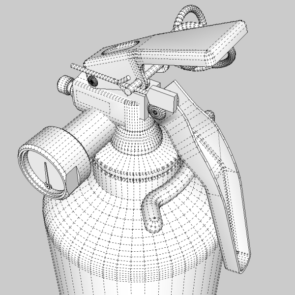 fire extinguisher (vehicle or household) 3d model 3ds fbx skp obj 113618