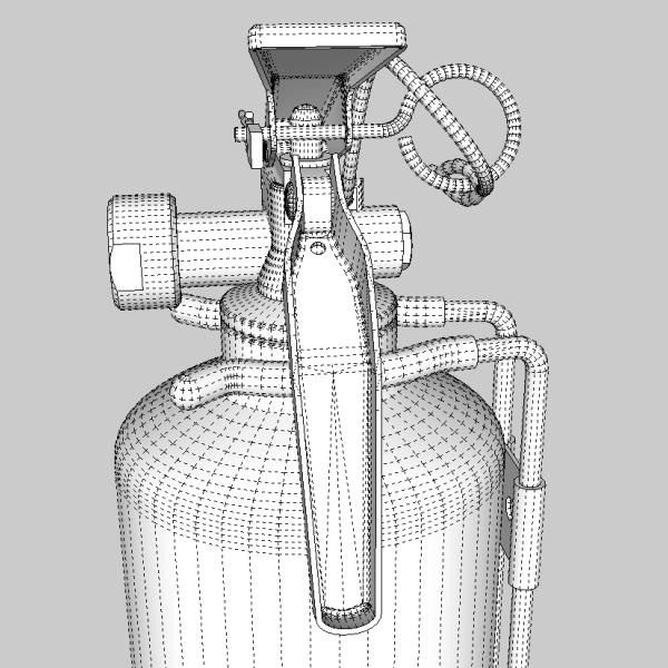 fire extinguisher (vehicle or household) 3d model 3ds fbx skp obj 113619