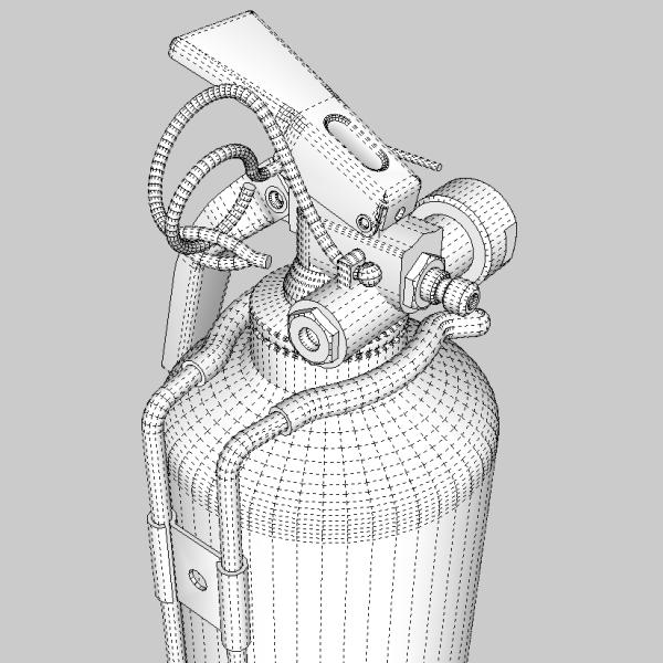 fire extinguisher (vehicle or household) 3d model 3ds fbx skp obj 113620