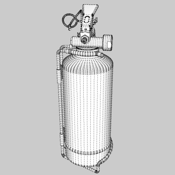 fire extinguisher (vehicle or household) 3d model 3ds fbx skp obj 113622