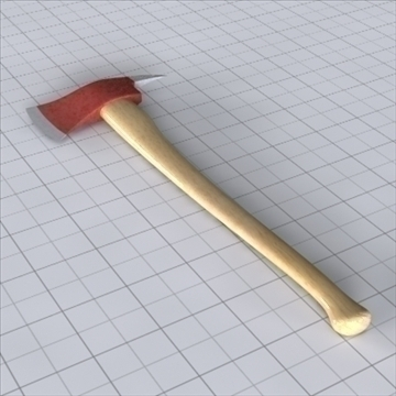 fireman axe 3d model 3ds lwo lxo obj 111021