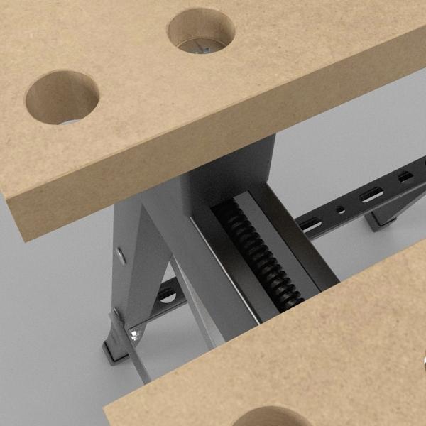 folding workbench 3d model 3ds fbx skp obj 122330