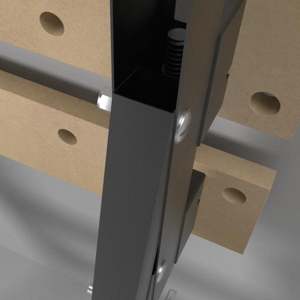 folding workbench 3d model 3ds fbx skp obj 122333