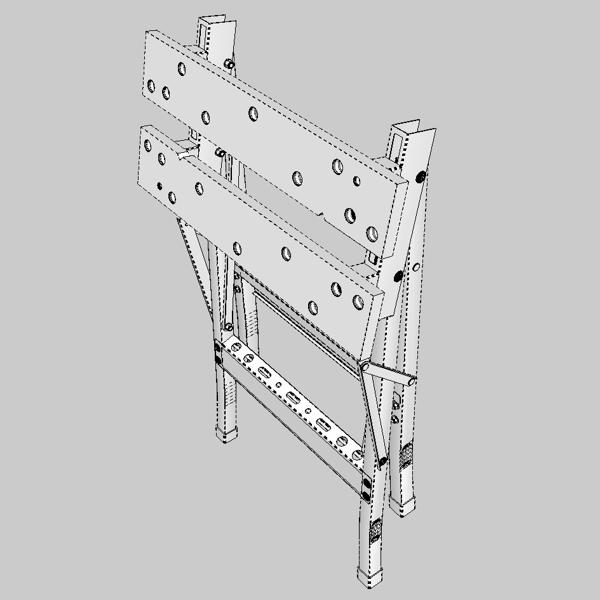 folding workbench 3d model 3ds fbx skp obj 122335