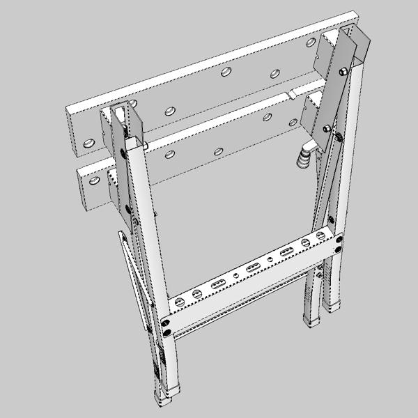 folding workbench 3d model 3ds fbx skp obj 122336