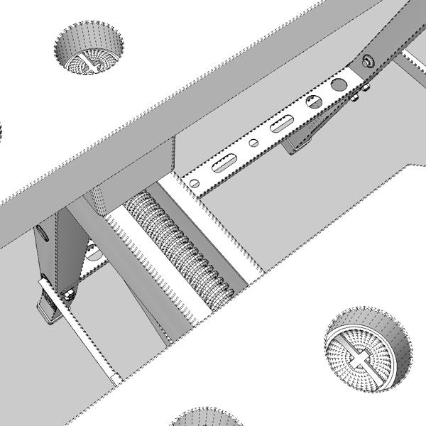 folding workbench 3d model 3ds fbx skp obj 122339