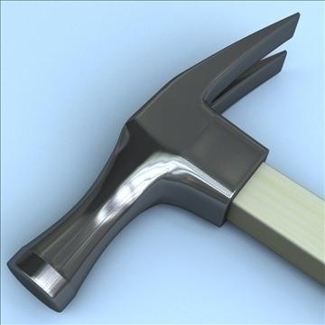 hammer tool 3d model 3ds max fbx lwo hrc xsi obj 104529