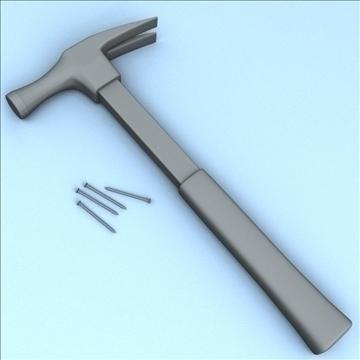 hammer tool 3d model 3ds max fbx lwo hrc xsi obj 104532