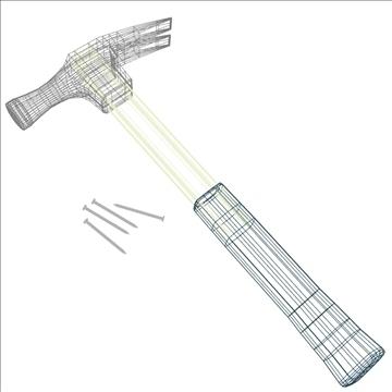 hammer tool 3d model 3ds max fbx lwo hrc xsi obj 104533