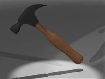 hammer wooden 3d model 3ds 81224