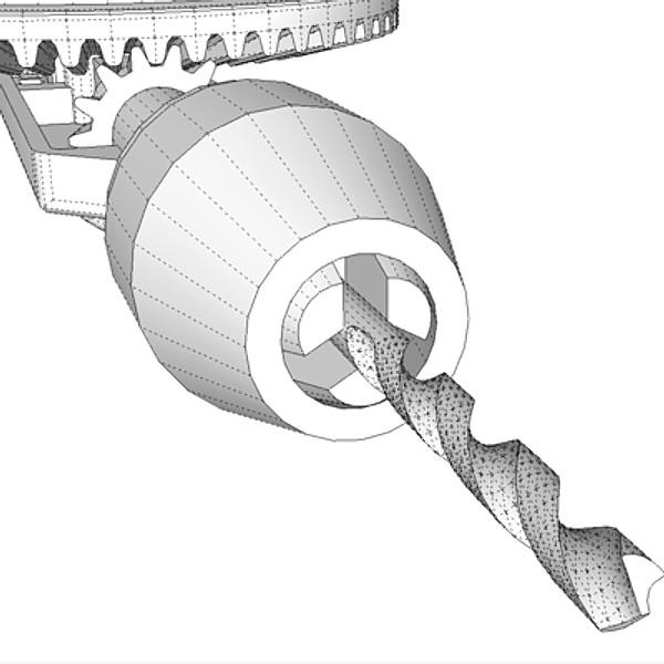 hand drill 3d model 3ds fbx skp obj 115353