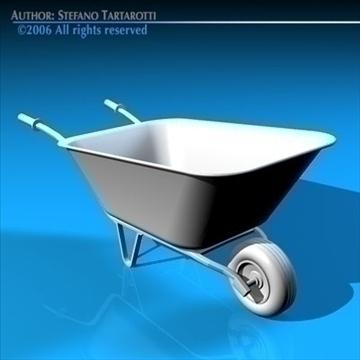iron wheelbarrow 3d model 3ds dxf c4d obj 82336