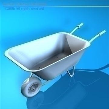 iron wheelbarrow 3d model 3ds dxf c4d obj 82337