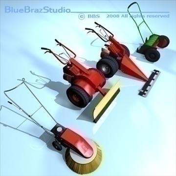 mower collection 3d model 3ds dxf c4d obj 91443