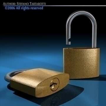 padlock1 3d model 3ds dxf c4d obj 81691