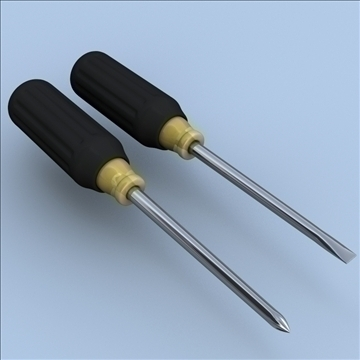 philips and straight blade screwdrivers 3d model 3ds max lwo hrc xsi obj 106266