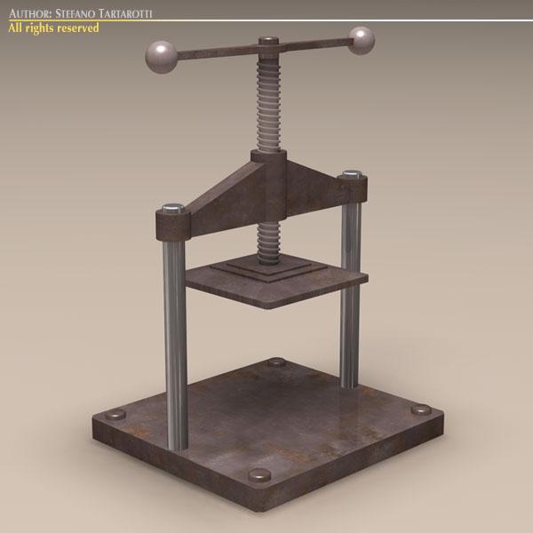 screw press 3d model dxf fbx c4d dae obj 118574