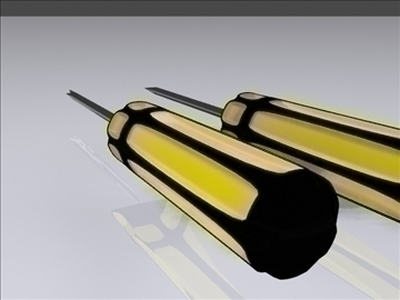 screwdrivers 3d model 3ds max fbx obj 95622