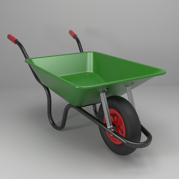 wheelbarrow 3d model 3ds fbx skp obj 113736