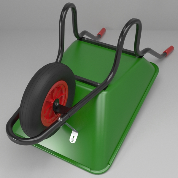 Wheelbarrow 3d model buy wheelbarrow 3d model flatpyramid for Gardening tools 3d model