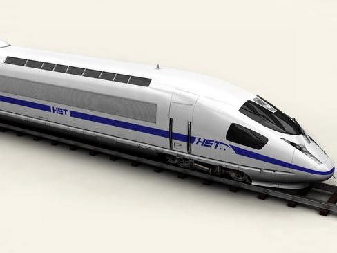 generic high speed train 3d model 3ds max c4d lwo ma mb obj 115931