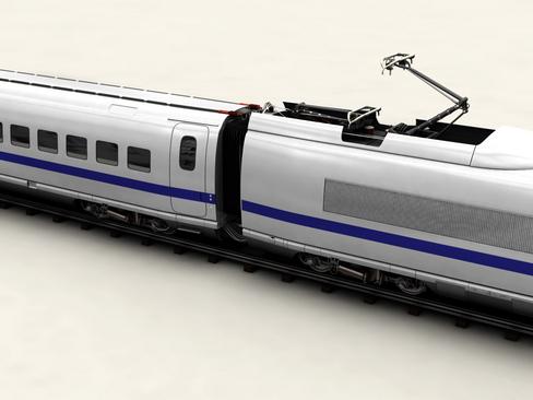 generic high speed train 3d model 3ds max c4d lwo ma mb obj 115932