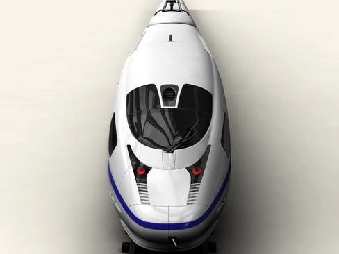generic high speed train 3d model 3ds max c4d lwo ma mb obj 115934