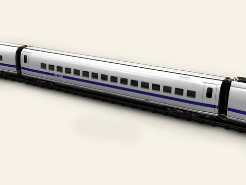 generic high speed train 3d model 3ds max c4d lwo ma mb obj 115936