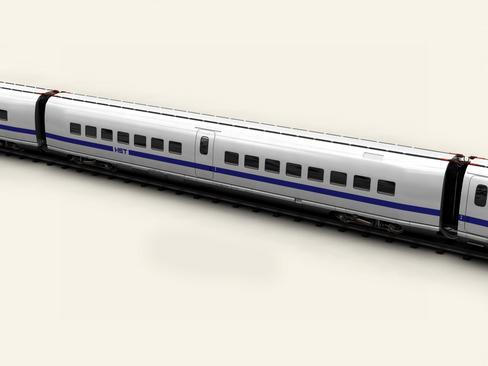 generic high speed train 3d model 3ds max c4d lwo ma mb obj 115937
