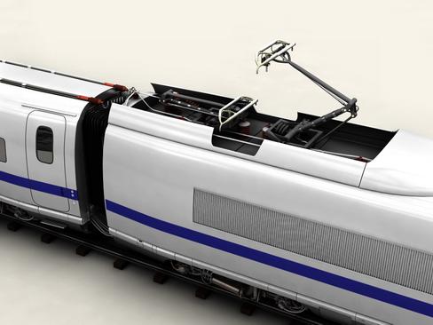 generic high speed train 3d model 3ds max c4d lwo ma mb obj 115938