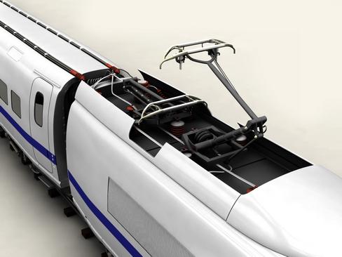 generic high speed train 3d model 3ds max c4d lwo ma mb obj 115939