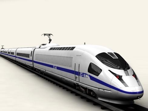 generic high speed train 3d model 3ds max c4d lwo ma mb obj 115940